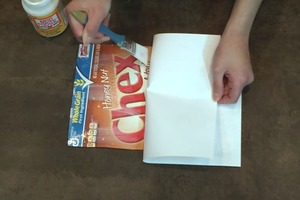 DIY Notebook From a Cereal Box