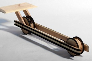 Self-powered Wooden Car