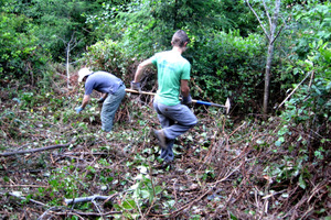 Volunteer trail building
