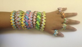 Paper Bracelets and Rings