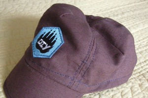 Patch sewn on hand sewn hat