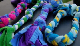 Weave a Fleece Rope Dog Toy