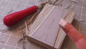 Homemade Letterpress Blocks