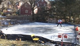 Homemade Ice Rink Timelapse
