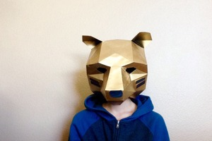 Homemade paper bear costume #costume2015