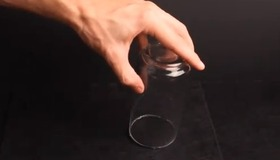 Coin Vanishes Inside a Glass