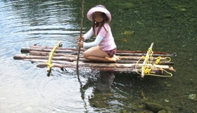 Real Raft From A Tree