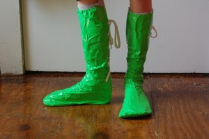 Duct Tape Frog Boots