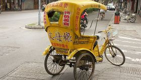 Bike Pulled Rickshaw