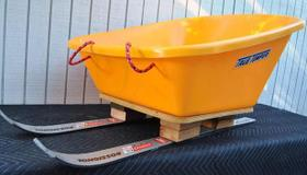 Wheelbarrow Ski Sled