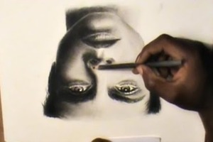 Drawing Upside down - Realistic Face