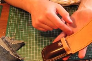 How To Make a Pocket Knife Sheath