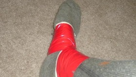 Duct tape ankle brace