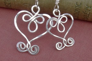 Wire Heart Pendants