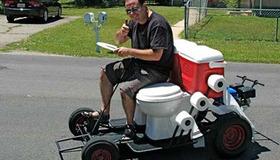 Toilet Seat Go-Kart