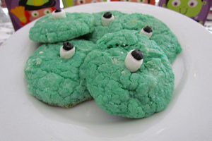 Monster Cake Batter Cookies