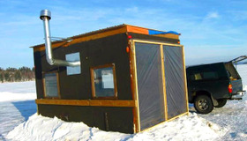 Solar Fishing Ice Shack