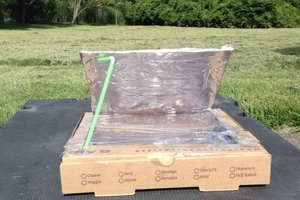 Homemade Pizza Box Solar Oven