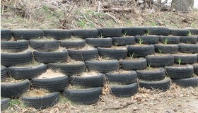 Retaining Wall from Tires