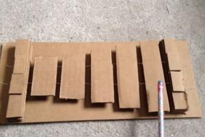 Cardboard Xylophone