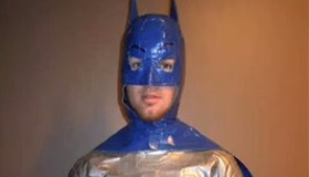Batman duct tape halloween costume