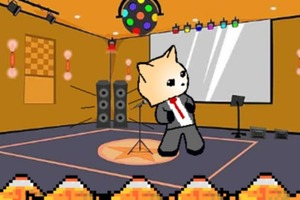 Cool cat in a tux dancing