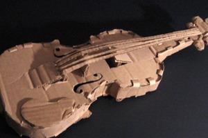 Violin from Cardboard