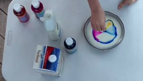 How-To Make Colored Milk Explosion
