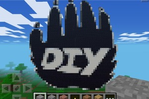 Huge Minecraft DIY Logo