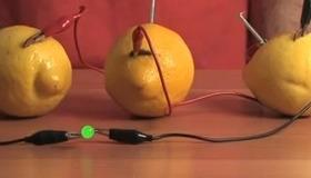 Lemon-Powered Battery