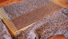 How to Make Recycled Sweater Scarf
