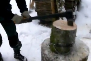 How to chop wood without messing around