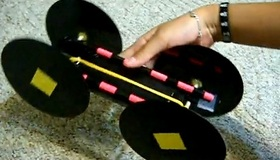 Rubber Band Powered Car