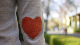Heart Elbow Patch