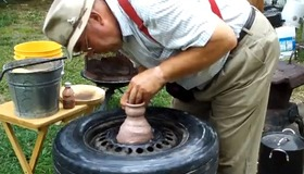 Make a Pottery Wheel From a Tire