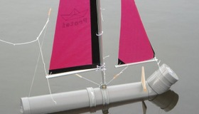 PVC Pipe Sailboat