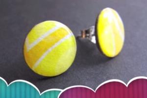 DIY Paper Stud Earrings