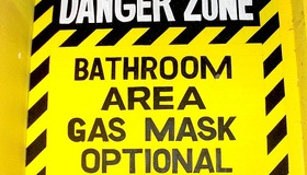 Bathroom Warning Sign