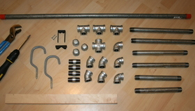 Plumbing Parts Bike Repair Stand