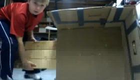 Cardboard Sled