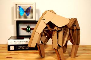 Elephant Cardboard Automata Toy