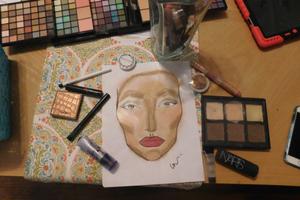 Drawing w/ makeup