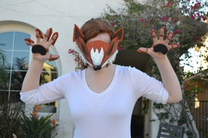Cardboard Fox Mask #costume2015