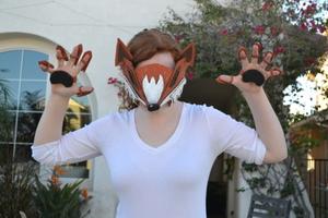 Cardboard Fox Mask #costume2015