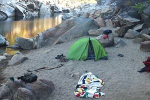 Camping on Yuba River, CA