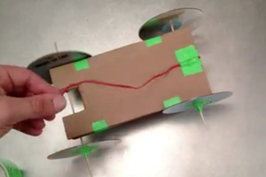 How-To Make a Rubber Band Powered Car