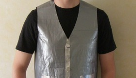 Vest made from tape