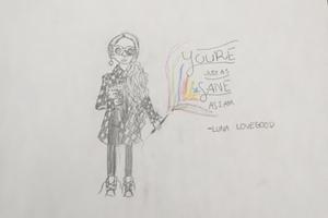 Luna lovegood drawing