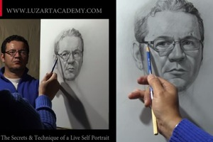 Drawing a Self Portrait with a Mirror