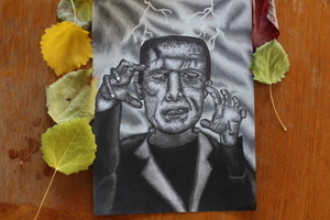frankenstein pointillism
